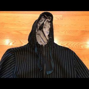 Cor3 Black Pinstripe Jacket. Size Large